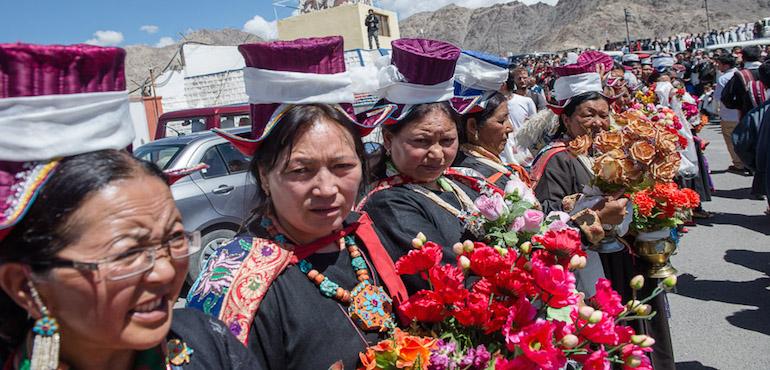 His Holiness the Dalai Lama Arrives in Ladakh