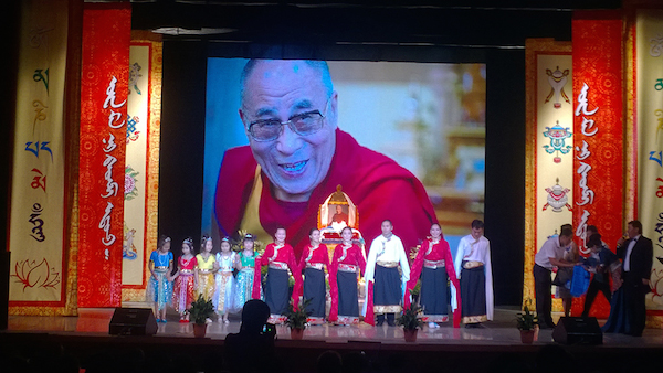 Artistes performing at His Holiness the Dalai Lama's birthday celebration in Russia.