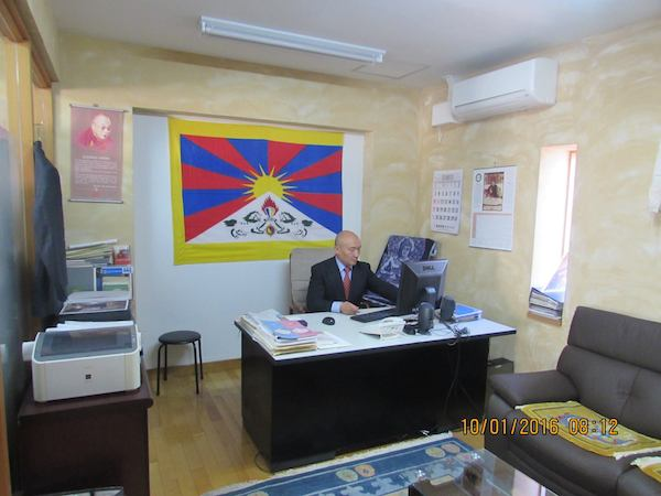 Representative Lungtok at the new Liason office of His Holiness the Dalai Lama.