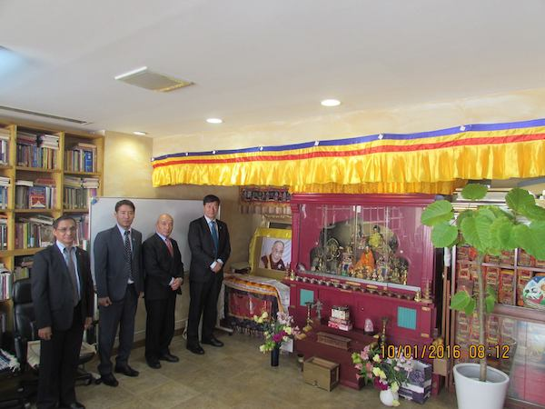 Representative and staff of Liaison Office of His Holiness the Dalai Lama at Tokyo, Japan with Hon'ble Sikyong during the visit to their new building.