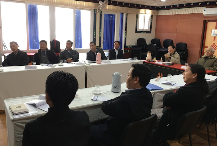 Participants including DIIR Kalon Dicki Chhoyang at the strategic planning workshop.