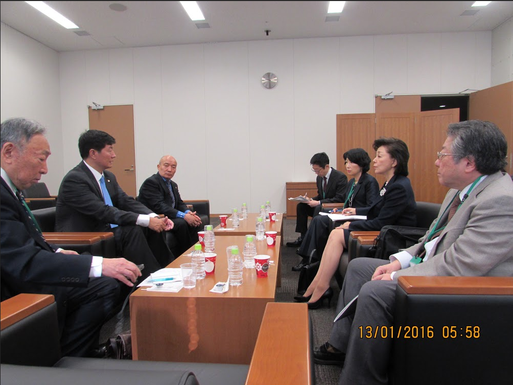Sikyong with the Chairman and members of Japan National Institute of fundamentals.