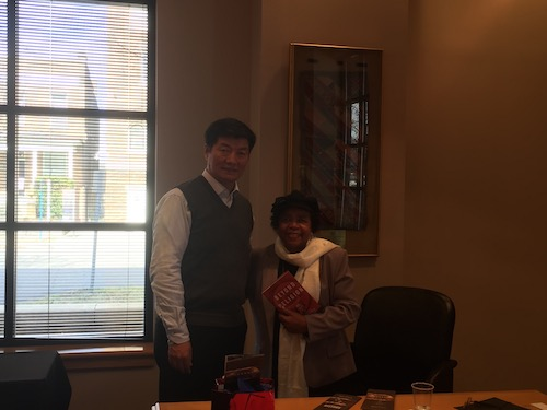 Sikyong with Ms Andrea L. Taylor, President & CEO of Civil Rights Institute.