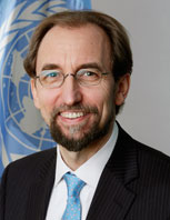 UN High Commissioner for Human Rights Zeid Ra'ad Al Hussein