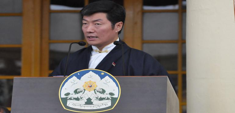 (file pic) Sikyong Dr Lobsang Sangay