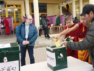 Tibetans here are voting today to elect the next PM or 'Sikyong' of the Tibetan government-in-exile and other members of the 16th Tibetan Parliament.