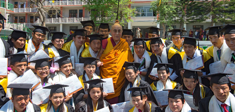 His Holiness the Dalai Lama Attends Graduation Ceremony at the College for Higher Tibetan Studies, Sarah