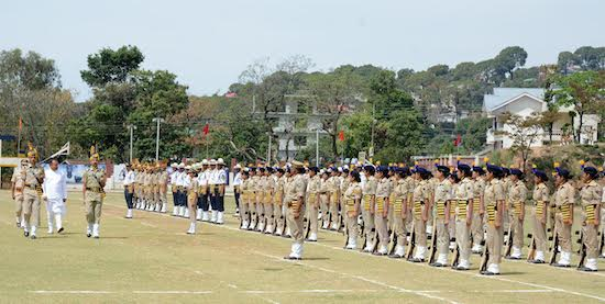 The 69th Himachal day parade at Police ground, Dharamshala, 15 April 2016