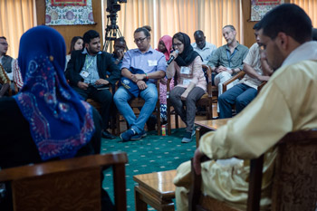 Noria from Afghanistan sharing here experiences at the meeting with Youth Leaders at Thekchen Chöling, Dharamsala, HP, India, 3 May 2016. Photo/Tenzin Choejor/OHHDL