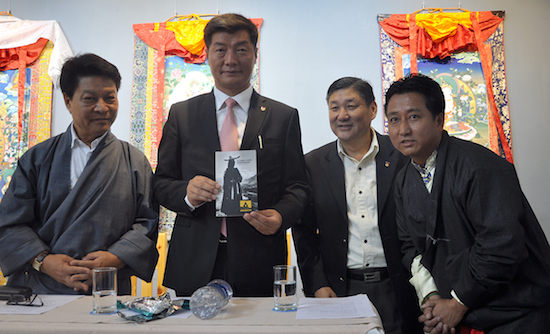 Sikyong Dr Lobsang Sangay releasing