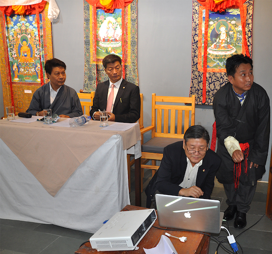 DIIR Secretary Sonam Norbu Dagpo launching the
