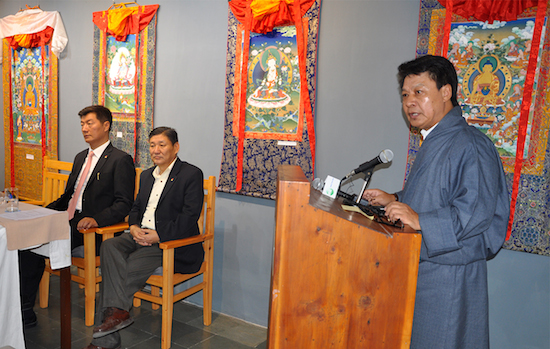 DIIR Secretary Mr tashi Phuntsok delivering his inaugural remarks, 18 May 2016.