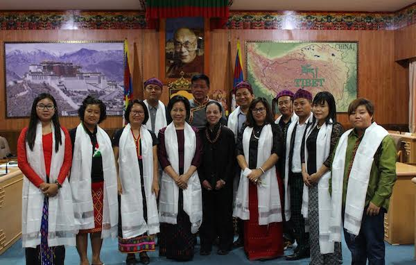 Speaker of Tibetan Parliament-in-Exile Mr Penpa Tsering with the visiting delegation