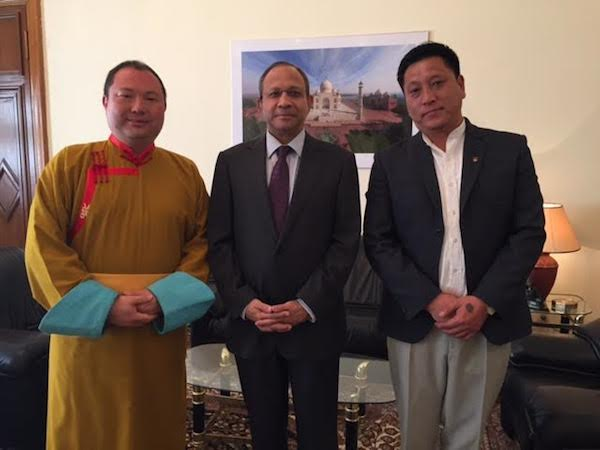 Representative Telo Tulku Rinpoche with the Indian Ambassador to Russia