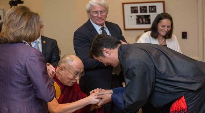 Fulfilling the Vision of His Holiness: Sikyong said as He Accepts NED's Citation on Tibetan Democracy