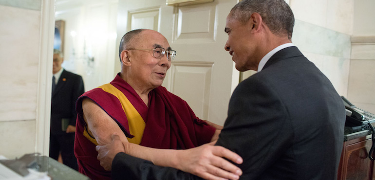 President Obama Meets His Holiness the Dalai Lama, Lauds Middle Way Approach