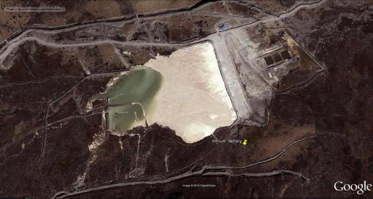 Minyak Lhagang lithium mining site