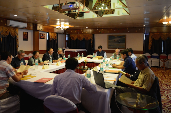 Sikyong Dr Lobsang Sangay presides over the 28th task force meeting on Sino-Tibetan negotiations in Dharamshala on 15 July 2016.