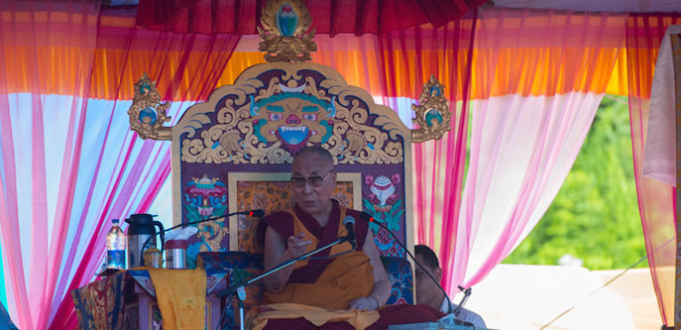 His Holiness the Dalai Lama Teaches 'Heart Treasure of the Enlightened Ones' in Tso-pema