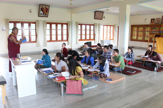 The six-month course in progress at Gyudmed Tantric monastery based in Hunsur Tibetan settlement, Karnataka state.