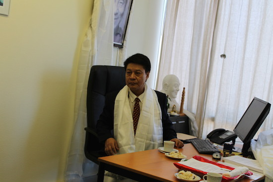 Mr Tashi Phuntsok, the new Representative of His Holiness the Dalai Lama at the Office of Tibet based in Brussels, Belgium.