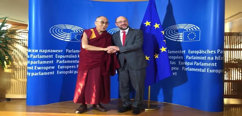 His Holiness the Dalai Lama Meets Mr Martin Schulz, President of European Parliament