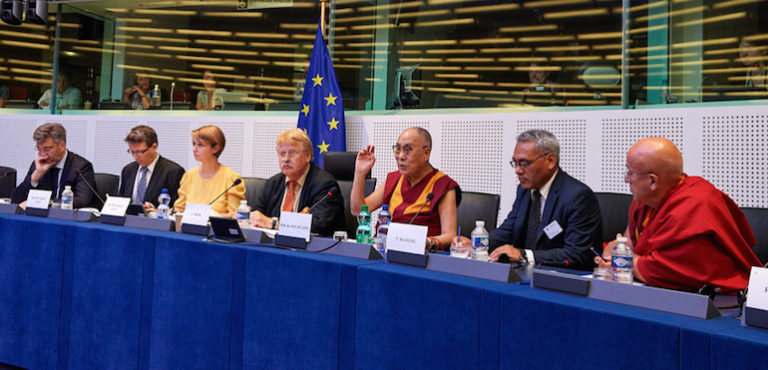 His Holiness the Dalai Lama Visits the European Parliament and Council of Europe in Strasbourg