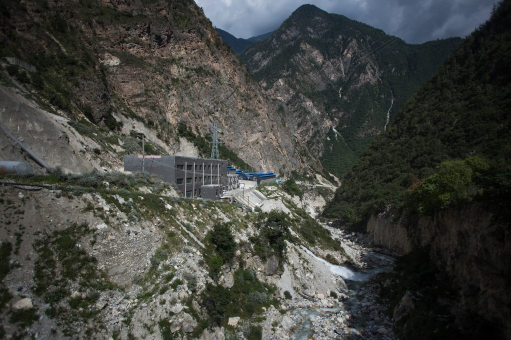 "Set in remote mountains on the edge of the Tibetan Plateau, the bitcoin ""mine"" is strategically placed next to a hydroelectric power plant. (Paul Ratje/For The Washington Post)"