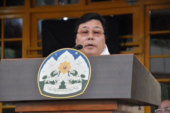 Mr Mukuth Mithi, Former Chef Minister of Arunachal Pradesh and Current member of Parliament, Rajya Sabha addressing the function, 2 September 2016.