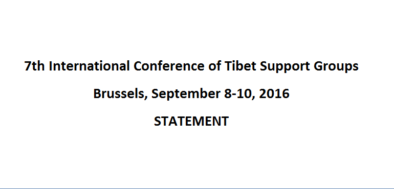 Statement of 7th International Conference of Tibet Support Groups