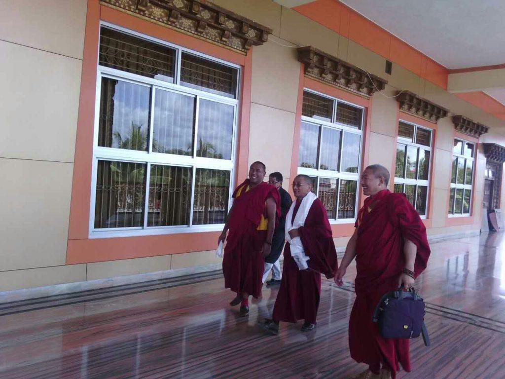 Kalon Karma Gelek Yuthok at Gaden Jangtse Monastery, Mundgod.