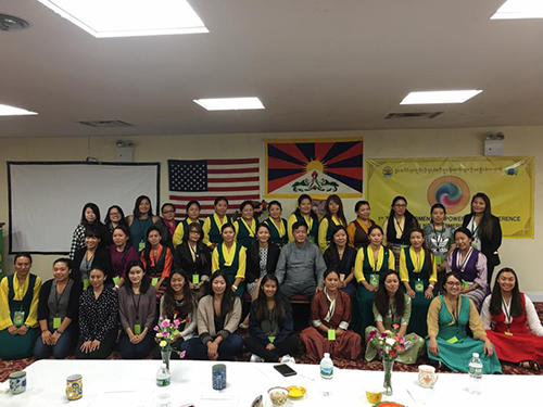 Representative Penpa Tsering with the participants of the 1st Tibetan Women's Empowerment Conference on 8 October 2016.
