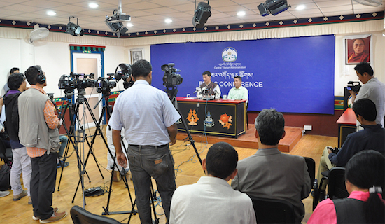 Press Conference at DIIR Lhakpa Tsering Memorial Hall, 3 October 2016.