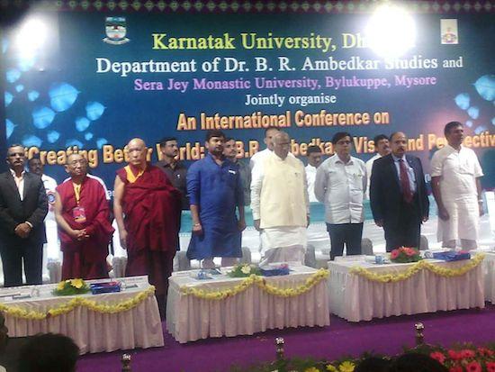 Kalon karma Gelek Yuhtok with dignitaries at the conference, 4 October 2016.