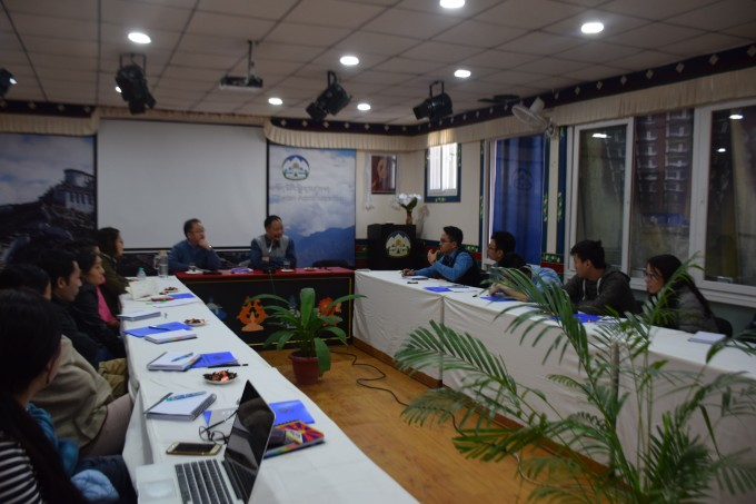 The workshop in progress at DIIR Lhakpa Tsering Memorial Hall, 12 November 2016.