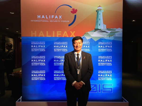 Sikyong Dr Lobsang Sangay at the Halifax International Security Forum 2015.
