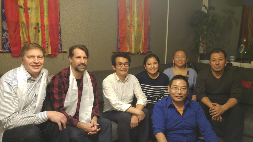 Representative Chonpel Tsering with Tibetan Community in Sweden and Swedish Tibet Community Board Members