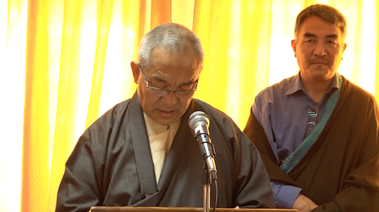 Dr Ngawang Rabgyal being sworn in as new Justice Commissioner of Tibetan Supreme Justice Commission, 1 November 2016.