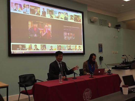 Sikyong Dr Lobsang Sangay speaking on 'Uniqueness of Tibetan experimentation with democracy in exile, its strengths and challenges' at the University of Westminster, 31 October 2016.