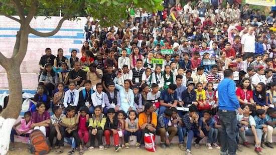 Participants of International Children's Festival held at Ambikapur.
