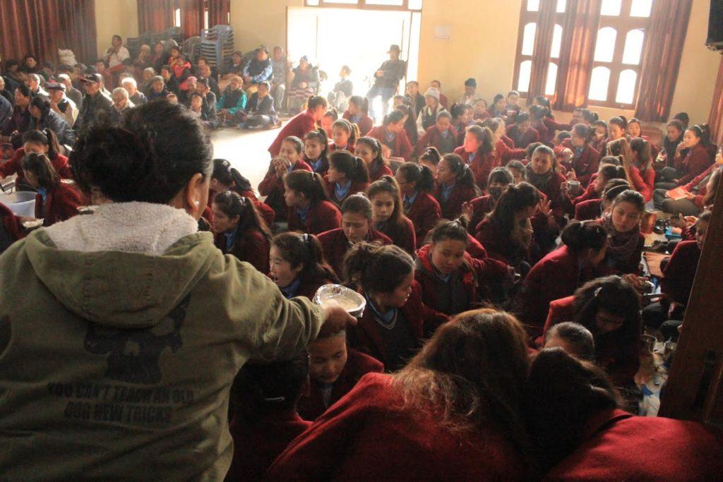 Student of Sambhota Tibetan School attending