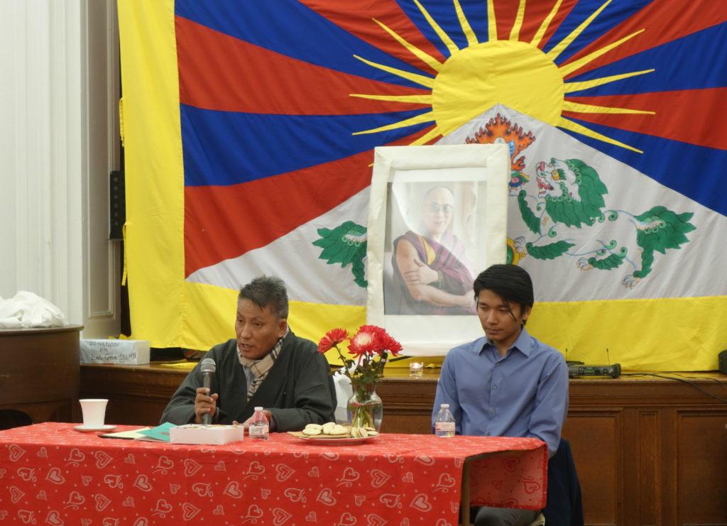 Kalon Karma Yeshi, Department of Finance, CTA speaking to Tibetan community in United States regarding importance of Green Book.
