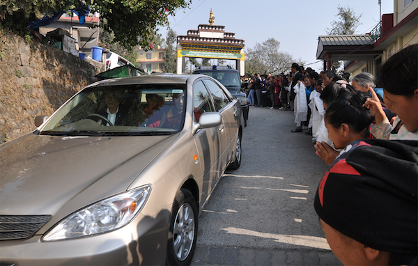 His Holiness the Dalai Lama leaves Dharamshala today for Delhi and South India, 8 December 2016.