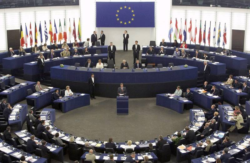 The European Parliament in session
