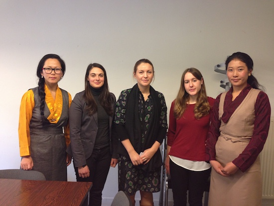 (From left) Ms Tenzin Sonam, Ms Lucia, Ms Marjorie Unal, Ms Melanie Blondell and Ms Nyima Lhamo.