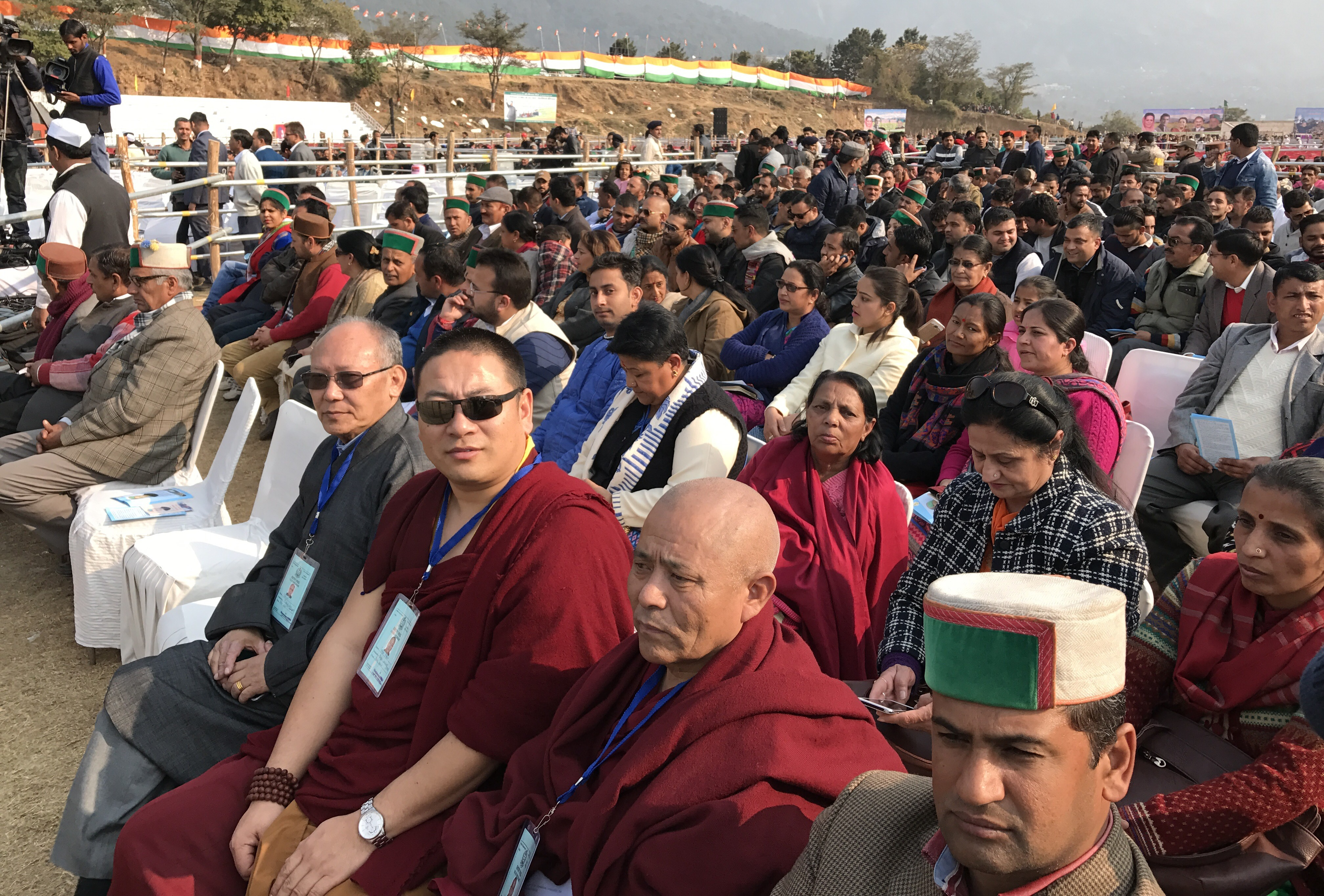 Members of Tibetan Parliament at the welcome reception for Shri Rahul Gandhi.