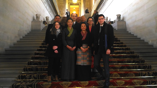 Ms Nyima Lhamo with French Parliamentary Tibet Group Secretaries and staff of Bureau du Tibet.