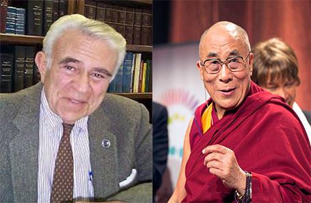 Congressman Benjamin Gilman and His Holiness the Dalai Lama.