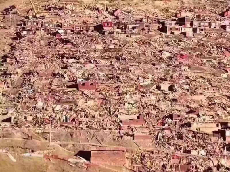 Large scale destruction at Larung Gar