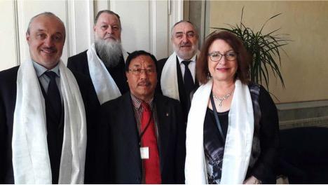 From left: Senator Mr. Petr Bratsky, Senator Mr. Petr. Silar, Senator Mr. Jiri Sestak and SEnator Mrs. Miluse Horska, Vice President of the Senate